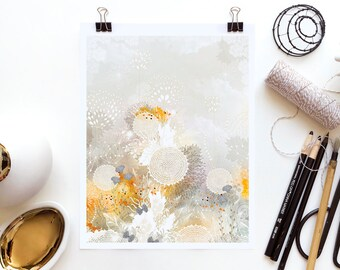 White Velvet by Iveta Abolina -  Floral Illustration Print