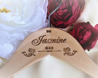 Bridal Party Dress Hangers, Personalized Hangers for Bridesmaids, Bridal Party Hangers for Wedding Day, Bridal Hanger, Dress Hangers