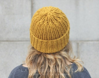ON SALE 20%OFF _ Mustard beanie , mustard knit hat , fisherman beanie, wool beanie // The Ribbed Beanie in Mustard