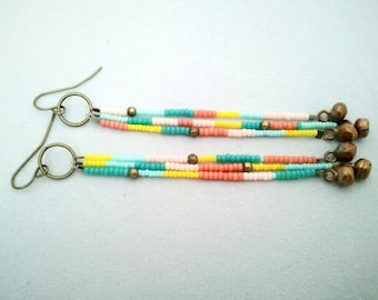 Boho Southwest Style Seed Bead Earrings - The Terra Earrings