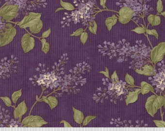 Moda Fabrics - Lilac Ridge Purple - Floral Lilac Bush on Purple Background by Jan Patek