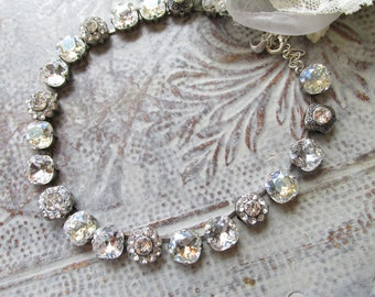 PRIMA DONNA* COLLECTION  Carlotta - Genuine Swarovski Crystal & Moonlight Necklace, Bridal, Phantom of the Opera, Formal, Great Gatsby
