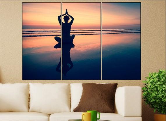 yoga canvas wall art  yoga canvas wall art art yoga wall decoration yoga large canvas wall art yoga ready to hang art yoga print