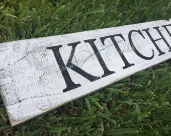 Kitchen sign, rustic sign, wood sign, reclaimed wood sign