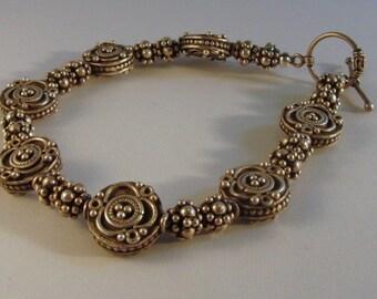 Bali Silver Bead Bracelet