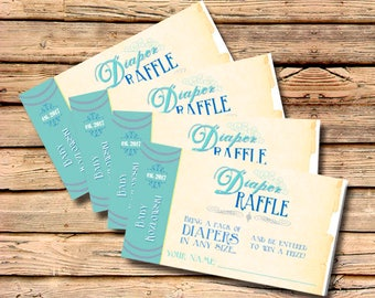 PRINTABLE or PRINTED Book Themed Diaper Raffle Ticket / Once Upon a Time / Story Time / Literary, Storytime / Book Theme Invite / Invitation
