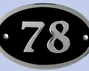 Oval Chrome House Numbers
