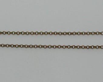 1 m rollo chain size 4mm antique bronze - Ref: CB 139