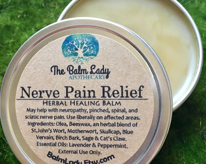 Nerve Pain Relief St. John's Wort, Skullcap, Motherwort, Birch Bark, Blue Vervain, Sage, May help Sciatica, Neuropathy, Pinched, Spinal Pain