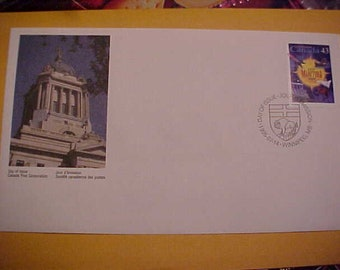 first day cover canada post 125th year of manitoba being a province MINT