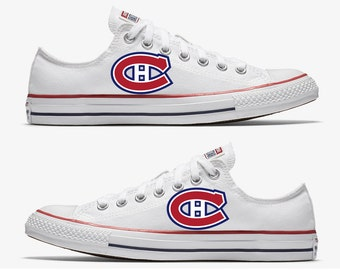 Converse Hand Painted Montreal Canadiens Hockey