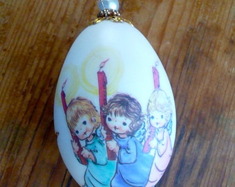 Vintage Christmas Ornament with Angels