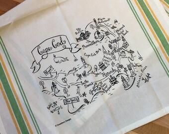 Cape Cod Map Kitchen Tea Towel