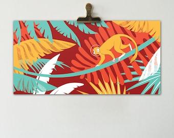 Jungle Monkey Horizontal Print