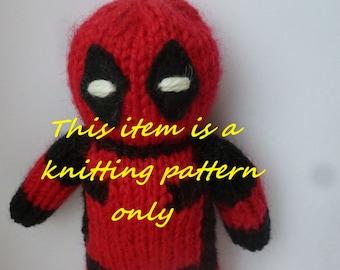 PDF knitting pattern: Deadpool
