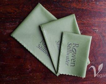 Vegan Wax Wrap Budget Pack in basic green - zero waste / soy wax wrap / sandwich wrap / reusable food wrap / lunch wrap