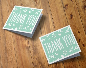 Wedding thank you cards, Wedding stationary, Small notecards, Paper cut thank you cards, 4 x 4 inches, Say thanks, Bride tribe, Papercut
