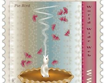 Pie Bird - archival pigment print