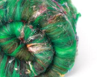 HEATHERED HEATH 2.8 oz  Wool - Merino // Art Batt // Wool Art Batt for spinning or needle felting