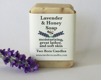 Lavender  Honey Soap, organic ingredients