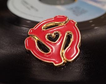 45 Love enamel pin