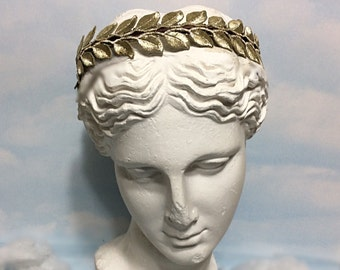 Gold Leaves Crown, grecian crown headband, gold headband women, gold embroidery, gold leaf headpiece, gold leaf bridal headband, gold crown