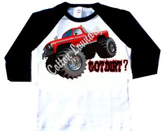 Monster Truck Boys Childrens tshirt..Monster Truck...