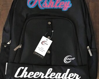 Cheerleader backpack - cheer bag - cheer backpack - bag for cheer - bow backpack - backpack with bow hooks - cheer