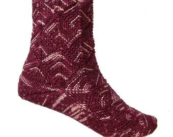Fairytale socks Red Cabbage, US size 7 - 8