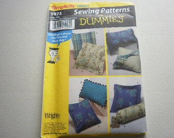 Pattern  Easy Sewing Pillows 5 Styles Simplicity 9873