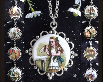 Alice in Wonderland Pendants - You Choose from 8 Designs