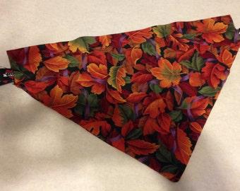 Fall themed dog bandanas