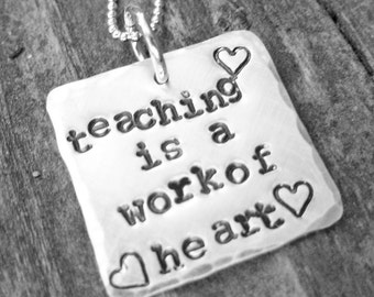Teacher Necklace- Gift for Teacher - Teacher Appreciation Gift - Personalized necklace for teacher