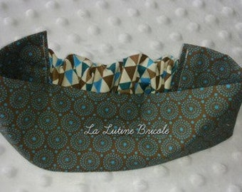 Baby headband Brown with pattern