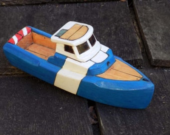TUMBLER-realistic toy wooden boat
