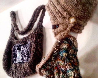 The Venus Cowl - handknit handspun corespun lace cowls