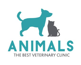 Veterinary logo, Pet logo, Pet Clinic, Cat logo, Dog logo, Custom logo, pet shop, ooak logo,Logo design, Vet Logo, Custom Logo Design, OOAK