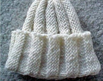 Babies Vertical Hat - - Knit ePattern