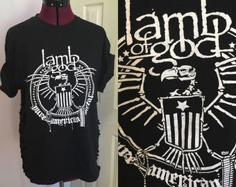 Reworked sliced LAMB OF GOD shirt