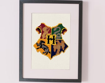Hogwarts Coat of Arms counted cross stitch pattern