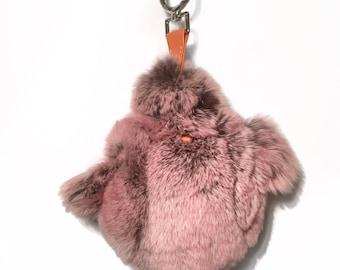 Fur Chicken Bag Charm
