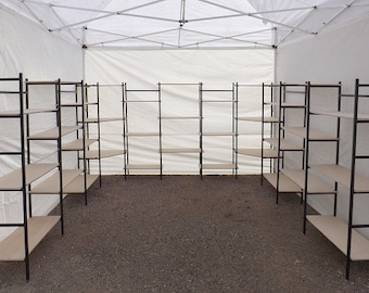 10' X 10' canopy booth or indoor display booth- Craft show display - Portable shelves - art show display - tradeshow booth display shelves