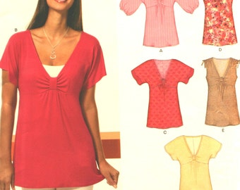 Misses' Top Sewing Pattern - New Look 6810 - Simplicity 6810 - New - Uncut - Size 10 - 12 - 14 - 16  - 18 - 20 - 22