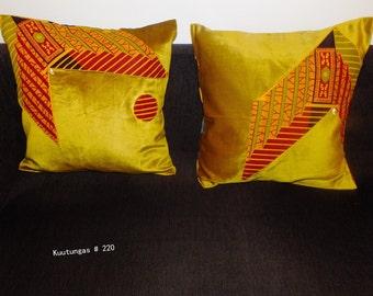 Handmade set of 2 pillow covers