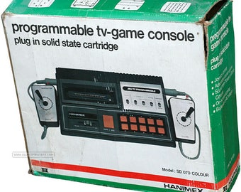Hanimex PONG tv game console - plug in solid state cartridge retro game