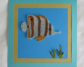 Paper Quilled Angel Fish Picture