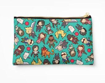 Final Fantasy VII Pattern ~ FF7 ~ Pencil Case / Cosmetic Bag