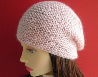 SLOUCHY Hat PATTERNS Womens Beanie Knitting Pattern Digital Download 21st Birthday Gift for Women Bestfriend Mom Minimalist Knit Toque OCEAN