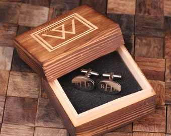 Personalized Men's Classic Oval Cuff Link Monogrammed Engraved Groomsmen, Best Man, Father's Day Gift