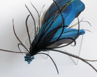 Feather and Crystal Headpiece